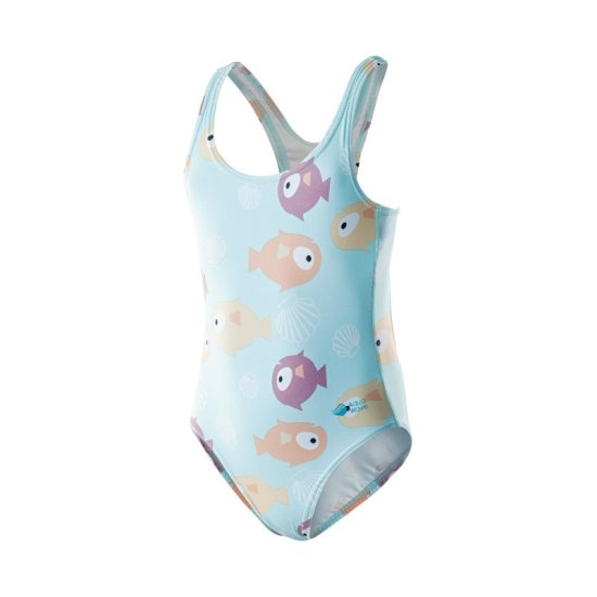 Детски бански костюм AQUAWAVE Sea girl, Син