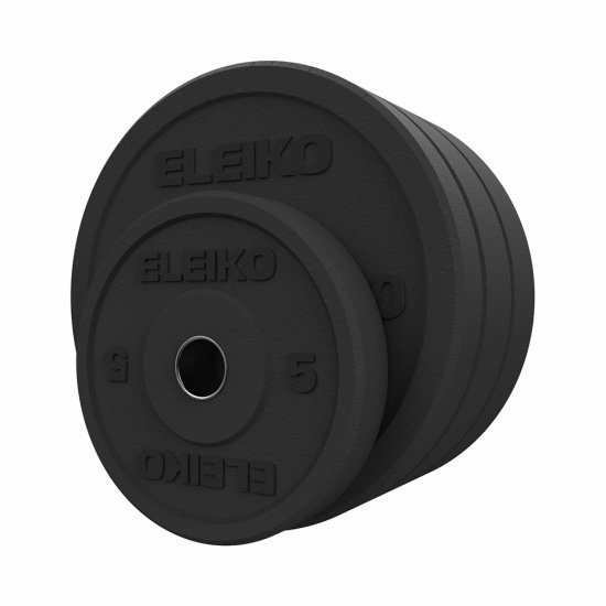 Гумиран диск  Eleiko XF Bumper - 10 кг, Черен
