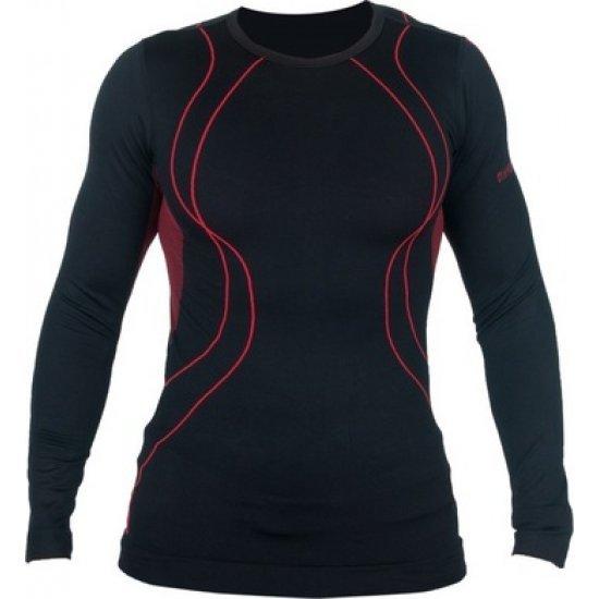 Термо блуза HI-TEC Gemm, Черен / Червен