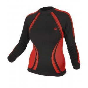 Термо блуза HI-TEC Lady Rico, Черен/Червен