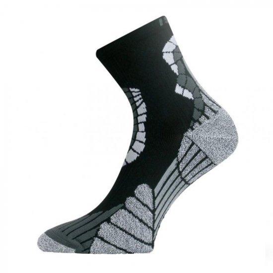 Чорапи за бягане LASTING IRM, Черен/Сив