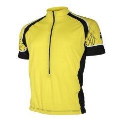 Тениска за колоездене LASTING DTU, Жълт
