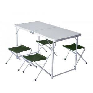 Маса с четири стола PINGUIN, Зелен