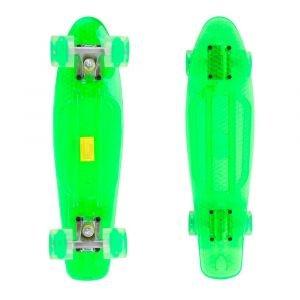 Пени борд MARONAD Retro Transparent със светещи колела 22, Зелен