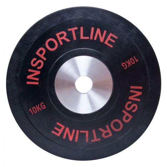 Олимпийска тежест inSPORTline Bumper Plate 10 kg