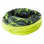 Шал-кърпа HI-TEC Ritem, Mountains print / Lime punch