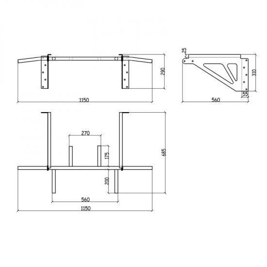Лост за стена Benchmark D9