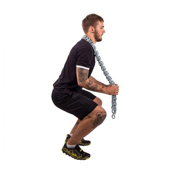 Комплект тренировъчни вериги с лост inSPORTline Chainbos 2x5kg