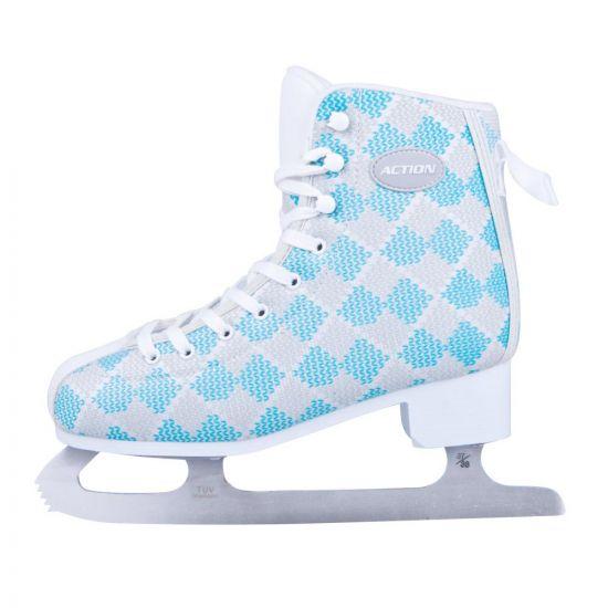 Дамски кънки за лед ACTION Blau