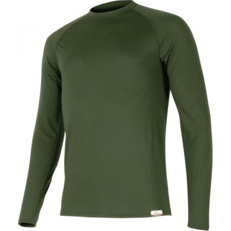 Вълнена термо блуза LASTING Atar, Тъмно зелен