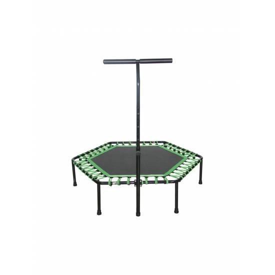 Батут без пружини и с дръжка SPARTAN,  Hexagon 136 см