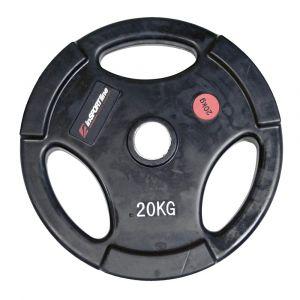 Гумиран диск за щанги inSPORTline Ergo 20 кг