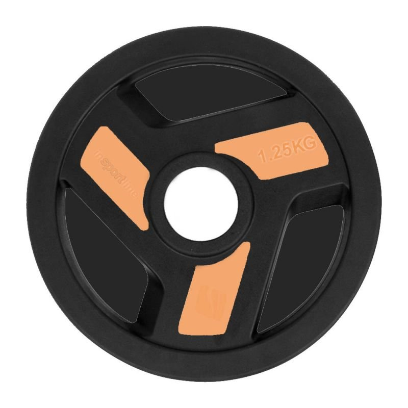 Olympic Rubber Coated Weight Plate inSPORTline Herk 1 25kg