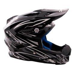 Велосипеден шлем W-TEC AP-42 черно-сребърен