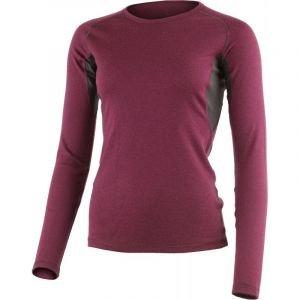 Дамска вълнена термо блуза LASTING Berta, Тъмночервен