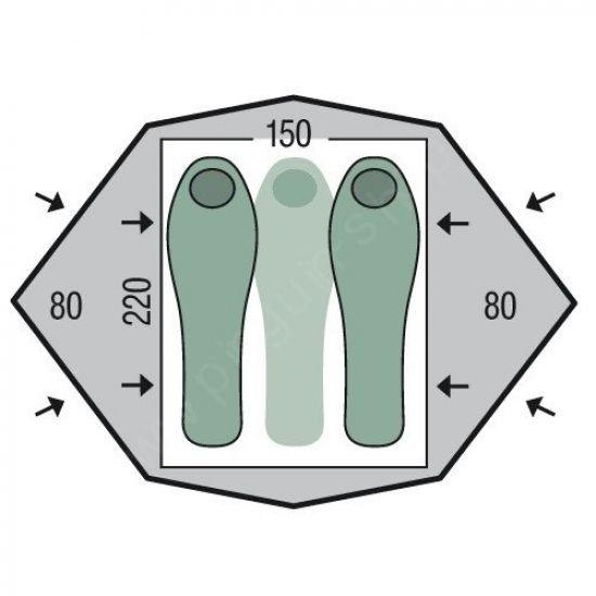 Двуместна палатка PINGUIN Gemini 150 Extreme