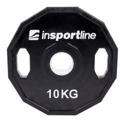 Олимпийски диск с гумено покритие inSPORTline Ruberton 10 кг