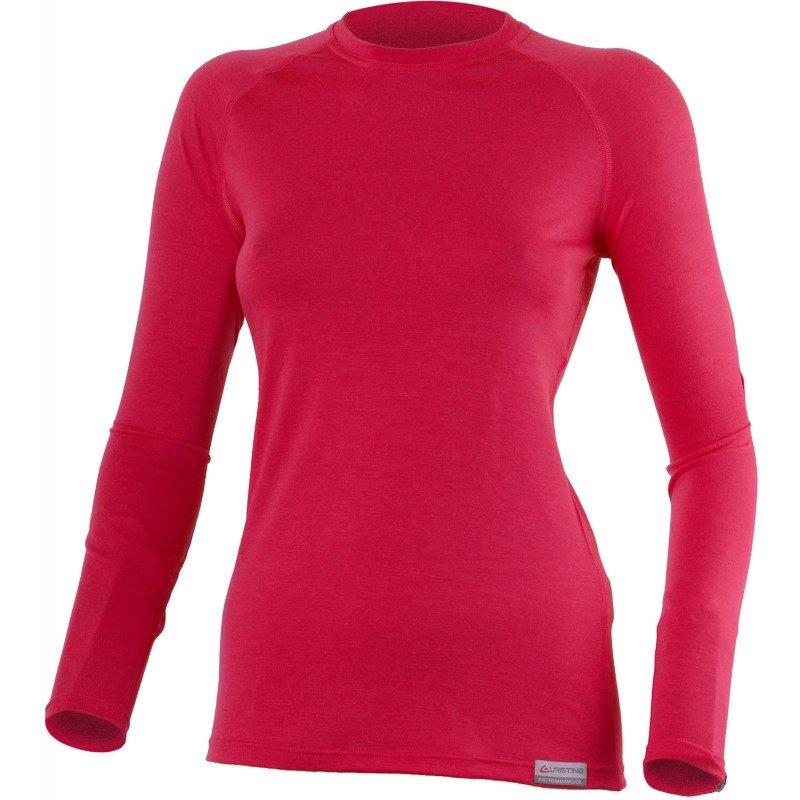88d6d57d934 Вълнена термо блуза LASTING Atila, Розов